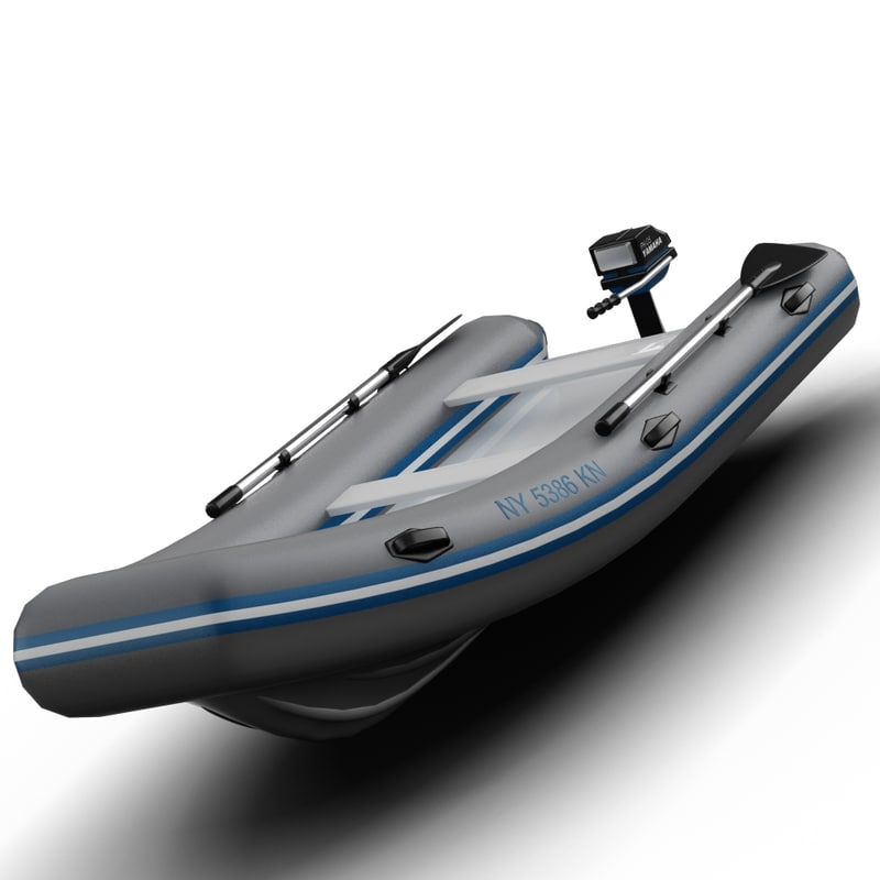 3d inflatable dinghy model