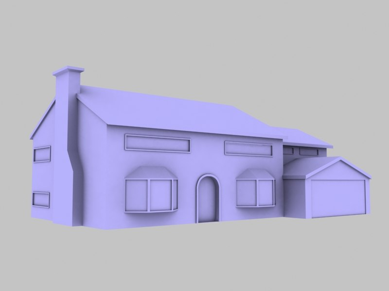 simpsons house 3d max