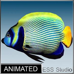 tropical fish 3d fbx