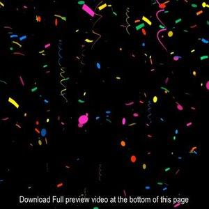 3d confetti rain particle