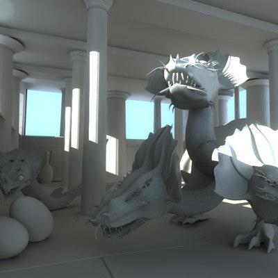 fantasy dragons temple greek max