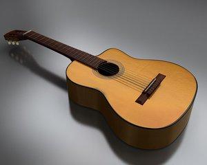 3d classic acoustic guitar model