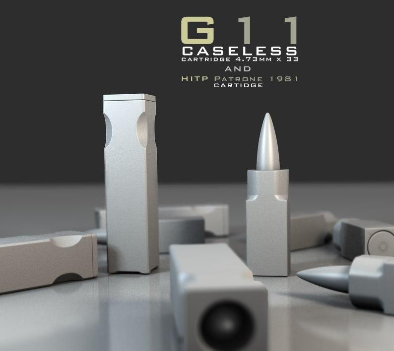 g11 caseless ammunition 3d model