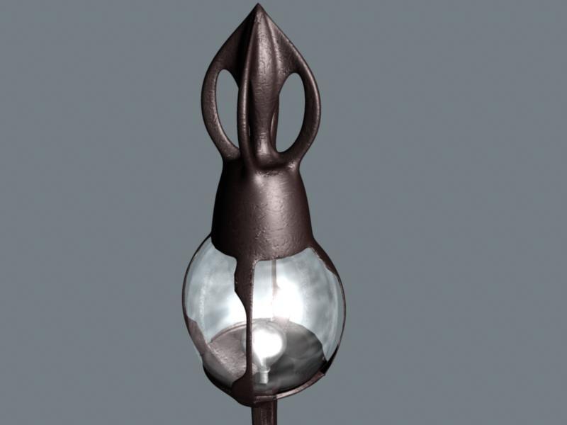 3d model garden lamp
