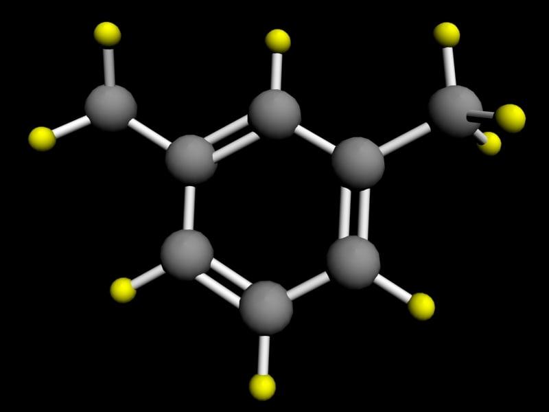 3d model of xylene atom