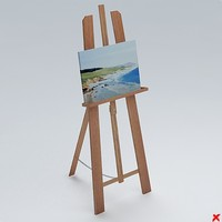 easel painting 3d model