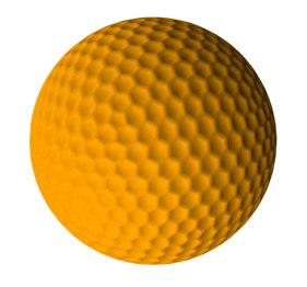 orange golf ball 3d max