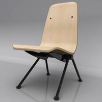 antony chair prouvé 3d dxf