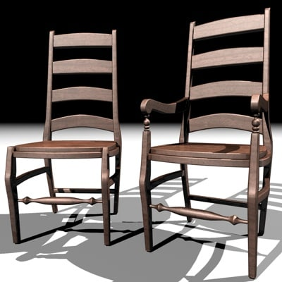 wynn style dining chair c4d