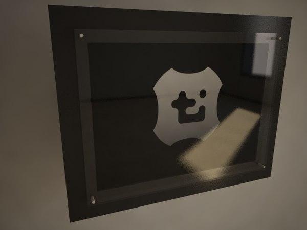 modern picture frame 3d model
