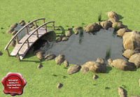 3d pond modelled model