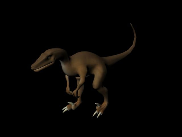 free velociraptor 3d model