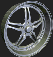 3d model of wheels rim