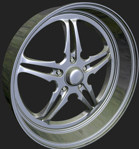 3d model of wheels rim