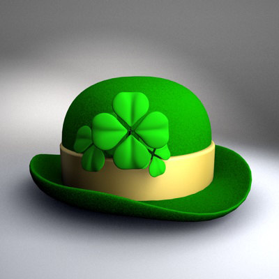 st patrick day hat 3d model
