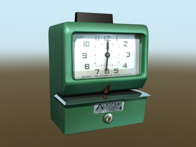 lwo acroprint time recorder