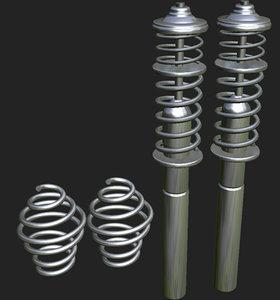 3d model of suspension