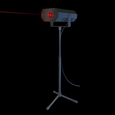 laser stage light 3d model