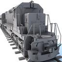 Locomotive Train with Wagon