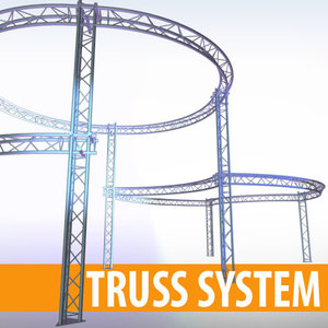 3ds max stage structure 3 pipes