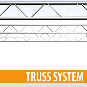 3dsmax stage structure 2 pipes