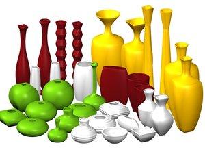 3d 3ds ceramic vases