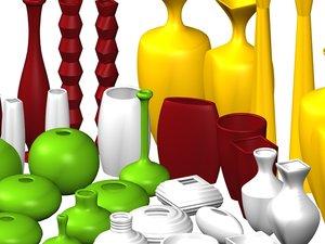 ceramic vases 3d model