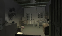 3d model kitchen scene