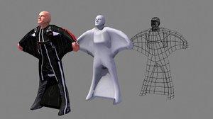 3d max birdman skydiving wingsuit