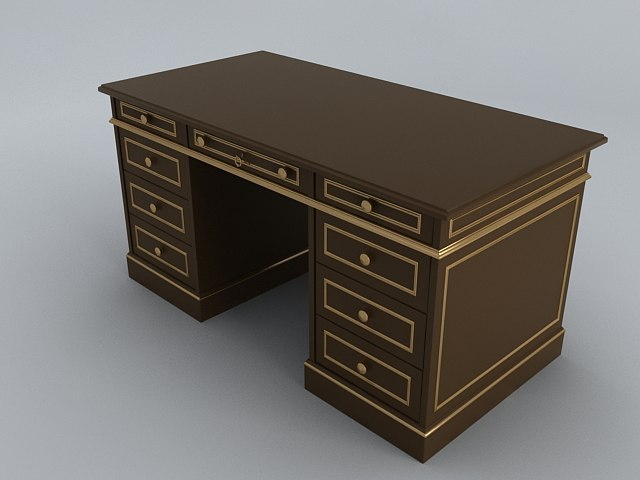 old style work table 3d obj
