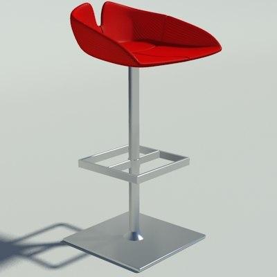 maya fjord stool square red