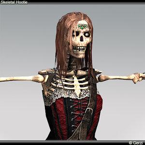 3d skeleton hottie model