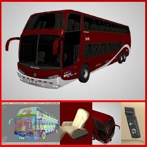 bus red 3d model