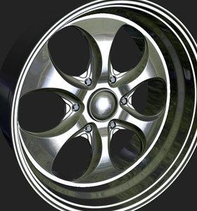 3d obj wheels rim