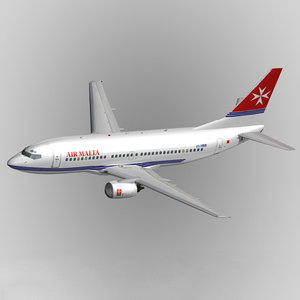 3ds max b737-300 air malta