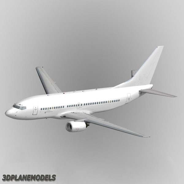 3ds max b737-300 generic white