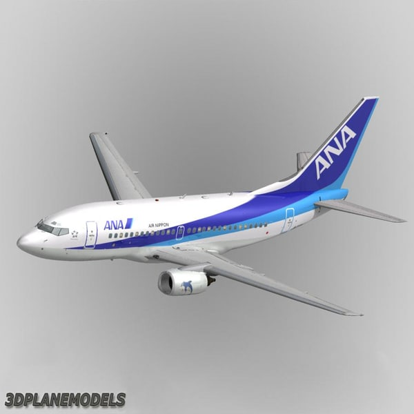 b737-500 nippon airways ana 3d model