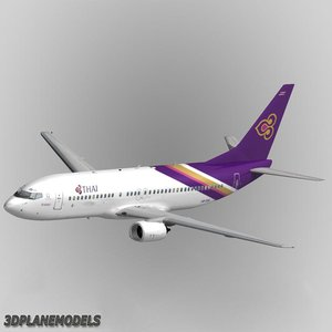 b737-400 thai airways 3d model
