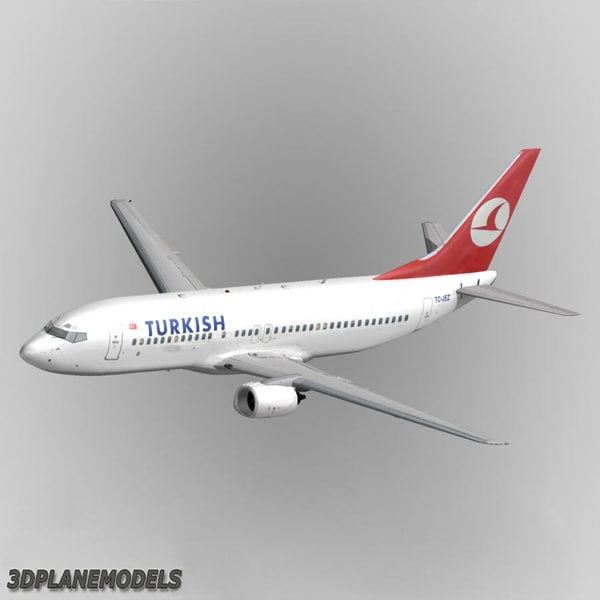 3d b737-400 turkish airlines