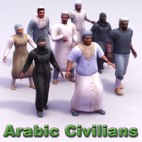 Arab Civilians x8 Rigged