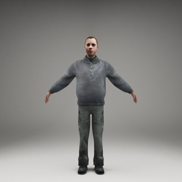 3ds max axyz characters human