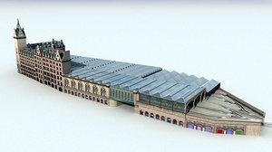 glasgow central station train 3d model