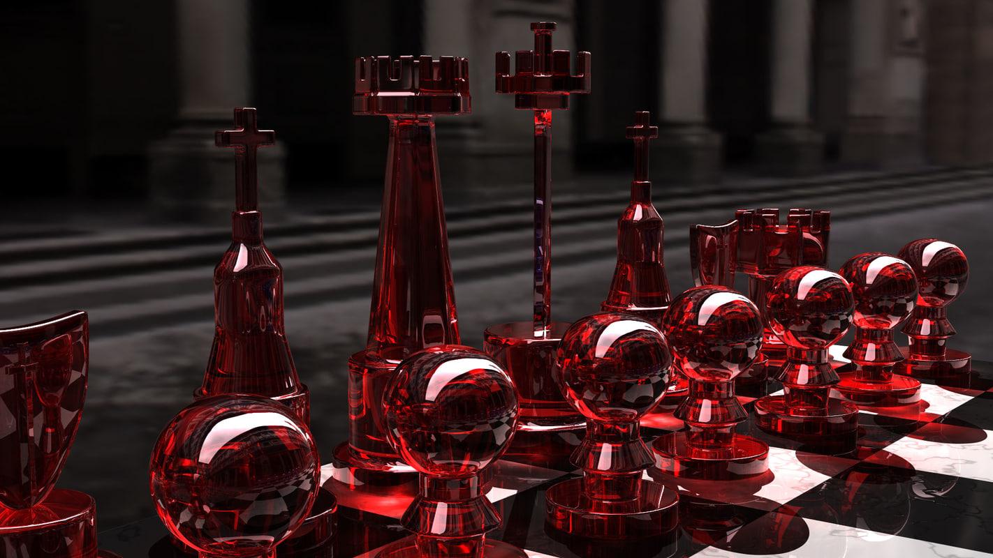 black chess set 3d 3ds
