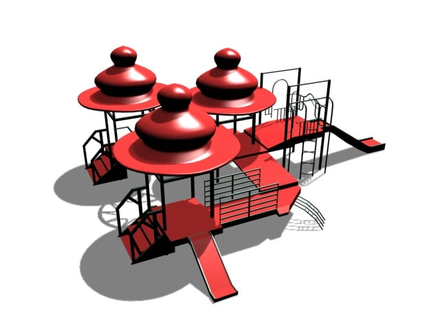 3d play playground model