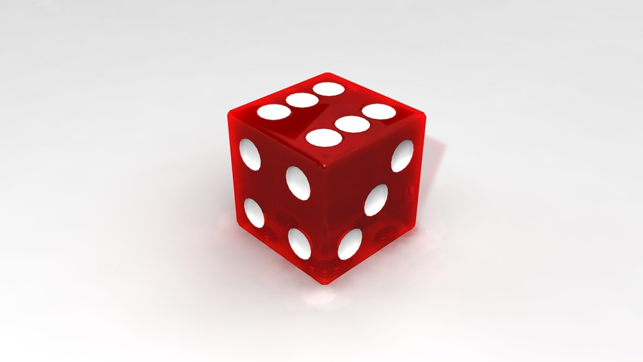 glass dice c4d