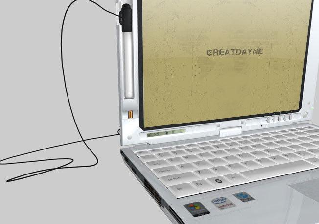 3d model tablet laptop