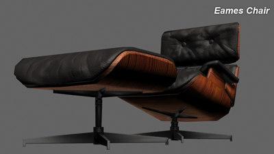 3d model eames chair