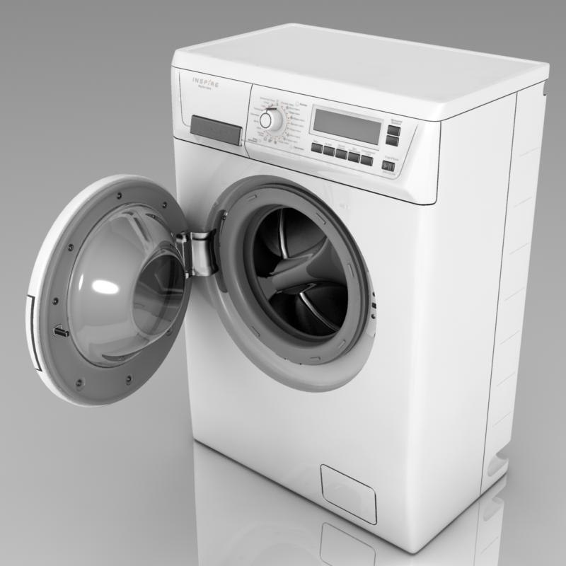electrolux washing machine 3d model