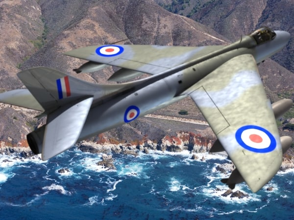 3ds hawker hunter sea hawk