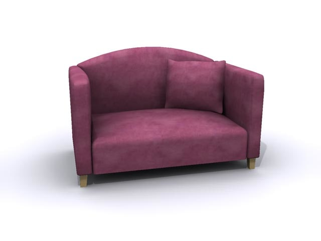 loveseat seat 3d model